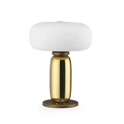 One on One Table Lamp in Polished Brass