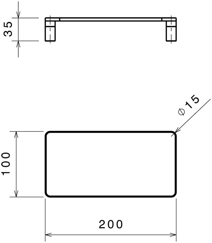 200x100x35H cm